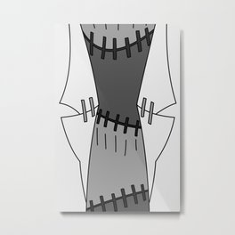 Franken Stein Lab Coat Metal Print