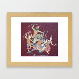 Cambodia traditional painting. Framed Art Print
