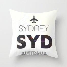Sydney airport minimal Throw Pillow