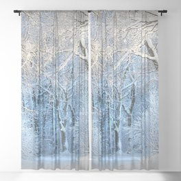 Another winter wonderland Sheer Curtain