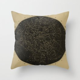Vintage Astronomy Constellations Star Map Throw Pillow