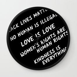 Science, human, lives, love, women, rights Wall Clock
