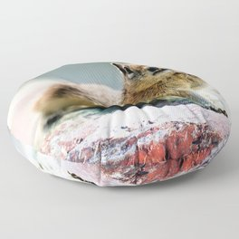 Talk to the Hand by OLena Art Floor Pillow