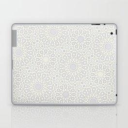 White Moroccan Tiles Pattern Laptop & iPad Skin