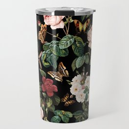 Floral and Butterflies Travel Mug