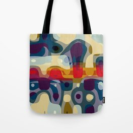 coming closer with our eyes, a distance forms around our bodies Tote Bag