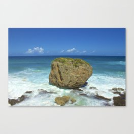 Unique Beach Scene San Juan Puerto Rico Canvas Print