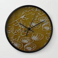 shells Wall Clocks featuring Shells by ANoelleJay