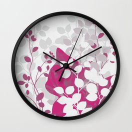 Pink Calico Cat Wall Clock