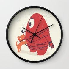 Cyclopes Monster Blob & Orange Dog Wall Clock