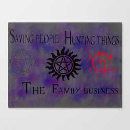 Supernatural family business Canvas Print