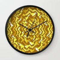 fabric Wall Clocks featuring Fabric P by Vitta