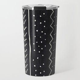 Moroccan Stripe in Black and White Travel Mug