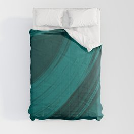 Gloomy semicircular cuts of heavenly fabric with intersections of dark ribbons Comforters