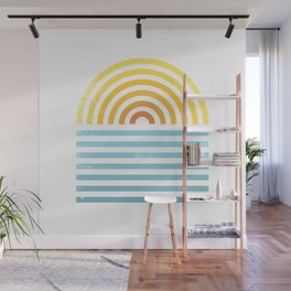 Retro Sunset Wall Mural