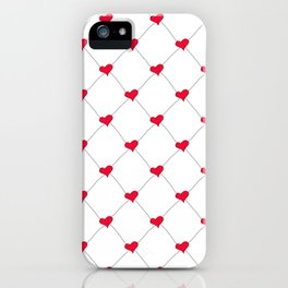 Connected Hearts iPhone Case