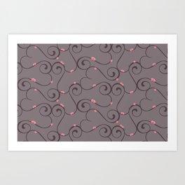Amour Pattern Art Print
