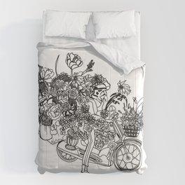 Floral Motorcycle Vendor Comforters