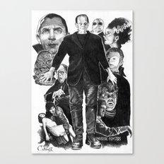 Universal film monsters Canvas Print