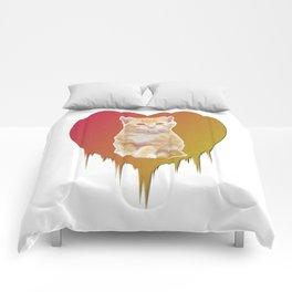 Cat in your heart Comforters