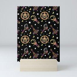 magical neon pattern  Mini Art Print