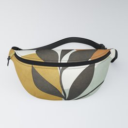 Soft Abstract Small Leaf Fanny Pack