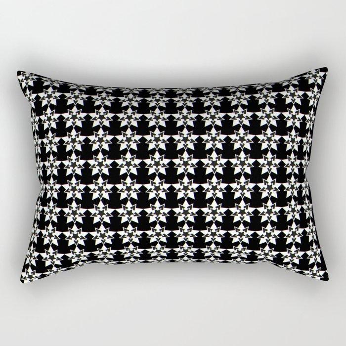 Nightmare? Starry pattern 1, Black Rectangular Pillow