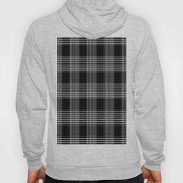 Black & Gray Plaid Print Hoody