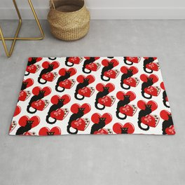 Le Chat Noir with Chocolate Candy Gift Rug