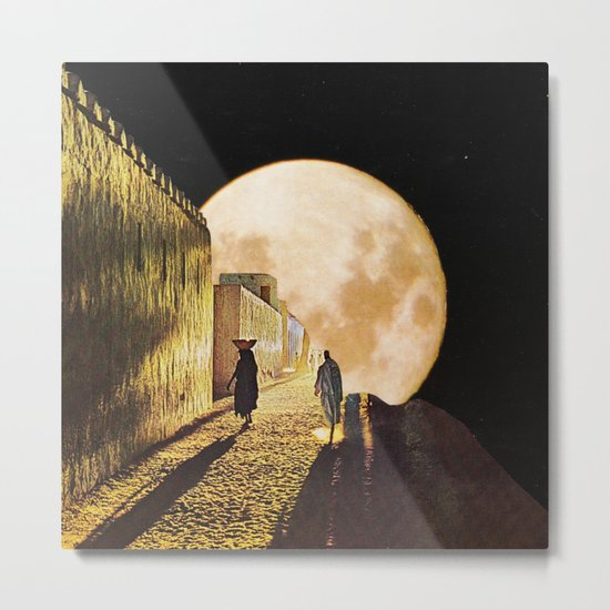 Walking at the moonlight Metal Print