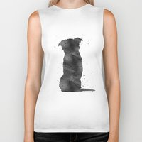 border collie Biker Tanks featuring Border Collie by Carma Zoe
