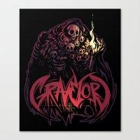 dark souls Canvas Prints featuring Dark Souls - Gravelord Nito by Shamfoo