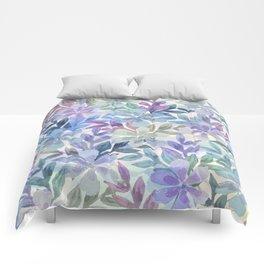 watercolor Botanical garden Comforters