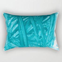 Turquoise Nail Polish Rectangular Pillow