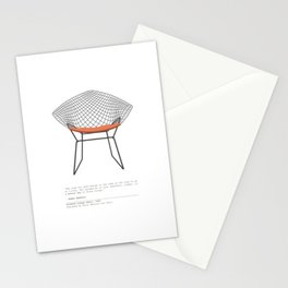 Mid-Century Diamond Lounge Chair Stationery Cards