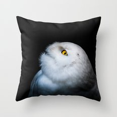 Winter White Snowy Owl Throw Pillow