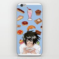 death note iPhone & iPod Skins featuring L from Death Note by Naineuh
