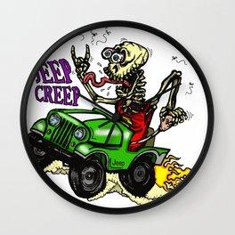 Jeep Creep Wall Clock