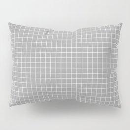 Grey Grid White Line Pillow Sham