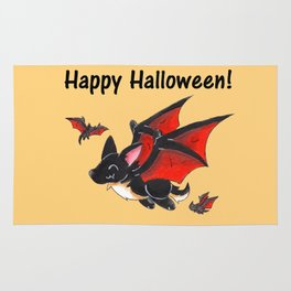Corgipire Bat (With Text) Rug