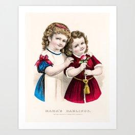 Mamas Darlings Art Print