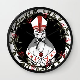 Beauty and the Priest Wall Clock