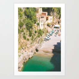 Positano Fishing Village Art Print