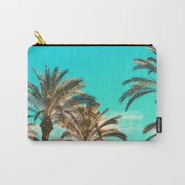 Tropical Palm Trees  - Vintage Turquoise Sky Carry-All Pouch