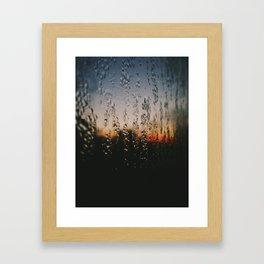 Glowing Pane Framed Art Print