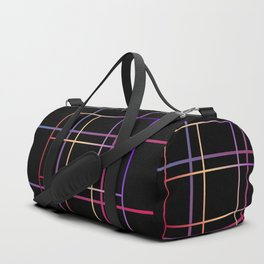Geometric patchwork12 Duffle Bag