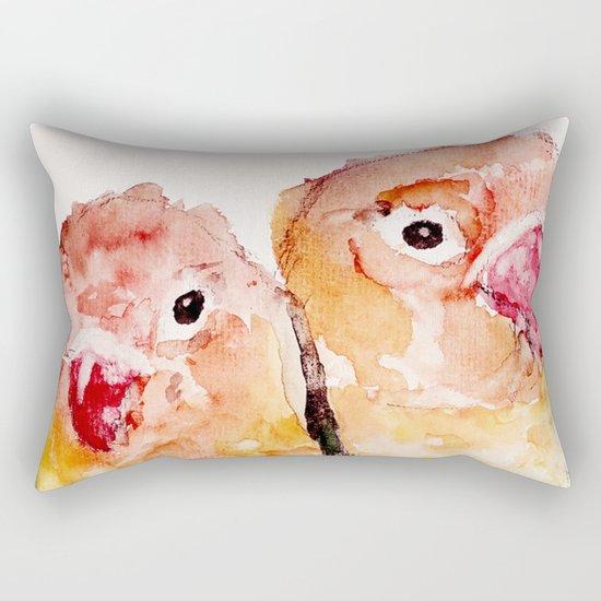 Lovebirds Rectangular Pillow