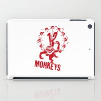 planet of the apes iPad Cases featuring Twelve Apes by FunnyFaceArt