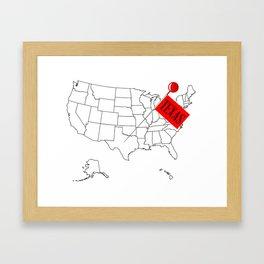 Knob Pin Texas Framed Art Print