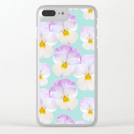 Pansies Dream #1 #floral #pattern #decor #art #society6 Clear iPhone Case